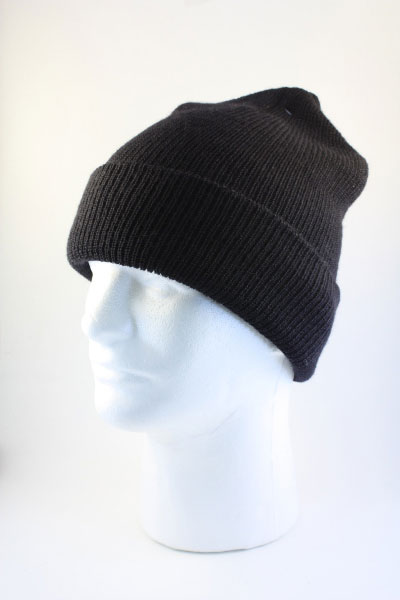 Wool Watch Cap - Black - Andy and Bax