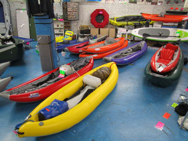 Inflatable Kayaks - Andy and Bax