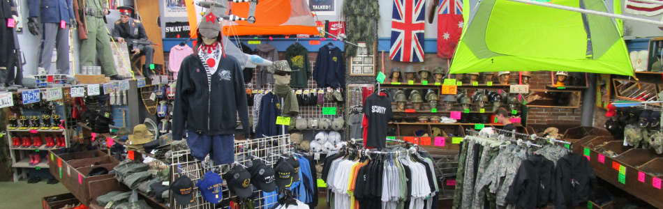Andy and Bax: Sporting Goods: Military Surplus, Whitewater